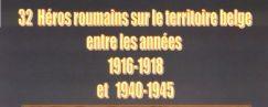 32 Héros roumains sur le territoire belge entre les années 1916-1918 et 1940-1945