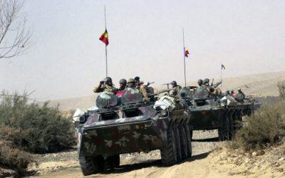 O coloană de transportoare blindate aparţinând Batalionului 150 Infanterie Războieni a fost atacată în zona localităţii SPIN PODLAC