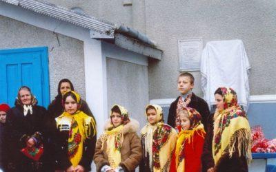 FOTO: Marcarea bisericii ortodoxe din satul Buda Mica, raionul Herţa, Ucraina