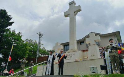 Sfinţirea monumentului eroilor de la Feleacu, judeţul Cluj